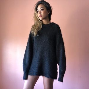 H&M Charcoal Mohair Oversized Sweater